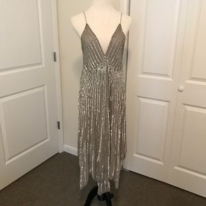Sequined 20s-style silk dress